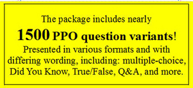 practice study questions for the PPO license test